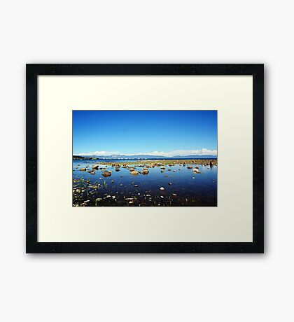 Tahoe City Beach Framed Print