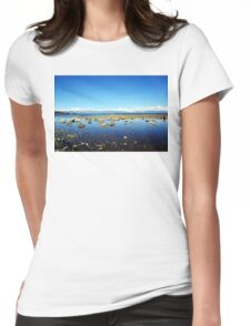 Tahoe City Beach Womens Fitted T-Shirt
