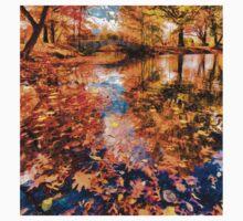 Boston Fall Foliage Reflection One Piece - Short Sleeve