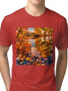 Boston Fall Foliage Reflection Tri-blend T-Shirt