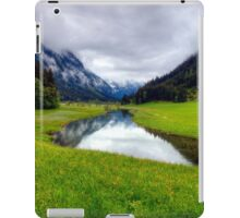 Spring meets winter in the Alps iPad Case/Skin