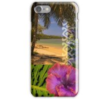 Anini Beach, Kauai Hawaiian Digital Mixed Media iPhone Case/Skin