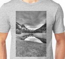 Spring meets winter in the Alps (B&W) Unisex T-Shirt