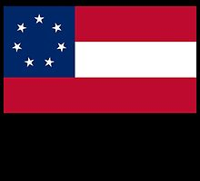 Stars & Bars, USA, America, First, American, National Flag, 7 Stars, America,1861, on BLACK by TOM HILL - Designer