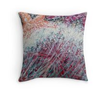 Urchin 24 X 24 inches beeswax encaustic on wood Throw Pillow