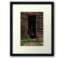 Into the Hog Barn Framed Print