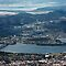 Hobart, Tasmania, as seen from Mt Wellington by Roger Barnes