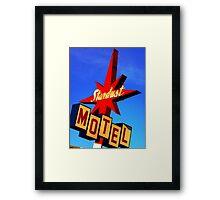 Stardust Motel Framed Print