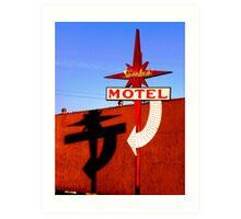 Stardust Motel I Art Print