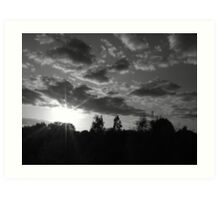 September Sunset in a London Suburb Art Print