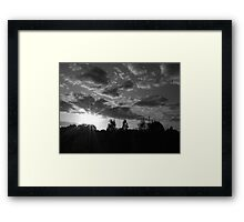 September Sunset in a London Suburb Framed Print