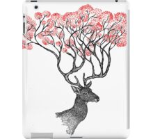 Pink Blossom Antlers iPad Case/Skin