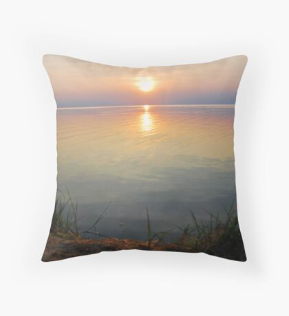 Sunset in Outer Banks Throw Pillow