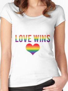 Love Wins! Women's Fitted Scoop T-Shirt
