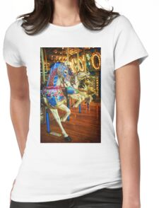 Carousel Horses Womens Fitted T-Shirt