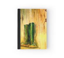 Still Life with  Wellingtons Hardcover Journal