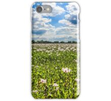 Poppy Field and Clouds iPhone Case/Skin