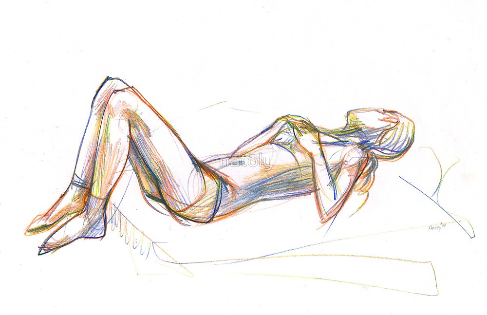 woman sketch by natoly