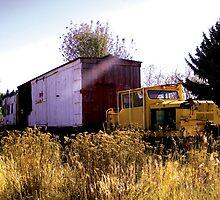 truck and train by Elisha Riley