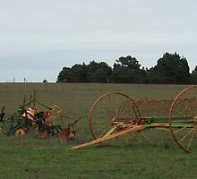 Old time farming implements by Aggiegirl