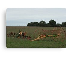 Old time farming implements Canvas Print