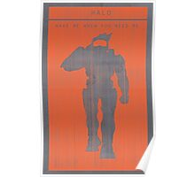 Halo Master Chief Gaming Poster Poster