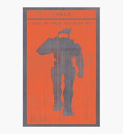 Halo Master Chief Gaming Poster Photographic Print