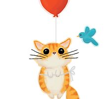 Kitty Balloon :) by Jamie Stryker
