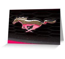 Pink Pony Greeting Card