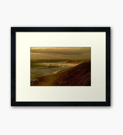 Sunset Sunburst, 13th Beach, Surf Coast Framed Print