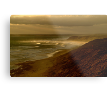 Sunset Sunburst, 13th Beach, Surf Coast Metal Print