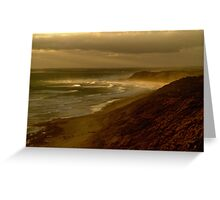 Sunset Sunburst, 13th Beach, Surf Coast Greeting Card