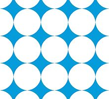 Diamond Brush Stroke Pattern (Blue White) by ProjectMayhem