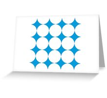 Diamond Brush Stroke Pattern (Blue White) Greeting Card