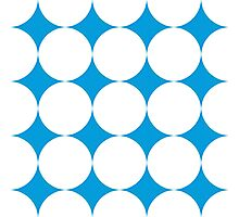 Diamond Brush Stroke Pattern (Blue White) Photographic Print