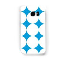 Diamond Brush Stroke Pattern (Blue White) Samsung Galaxy Case/Skin