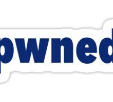pwned design Sticker