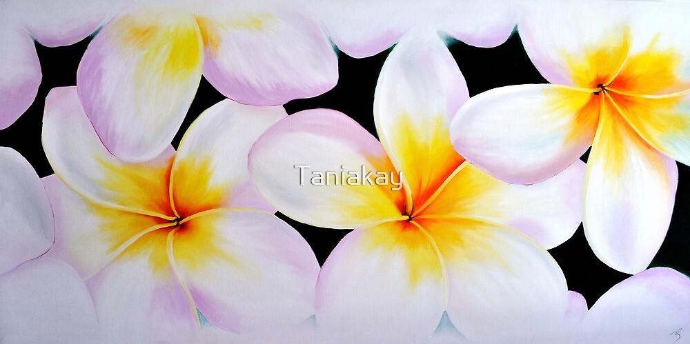 """Deep Green frangipani"" Floral Series 2009 by Taniakay"