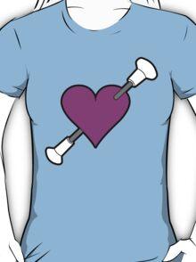 Shot Through The Heart Baton Twirling Pink T-Shirt
