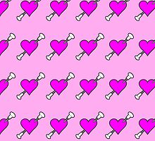 Shot Through The Heart Baton Twirling Pink by Sookiesooker