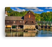 HDR Old Grist Mill Canvas Print