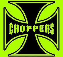 Chopper Maltese Cross Design Lime Green by Sookiesooker
