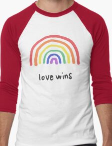 LGBTQA+  PRIDE [Love Wins] Men's Baseball ¾ T-Shirt