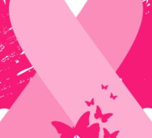 Pink Ribbon Design Sticker