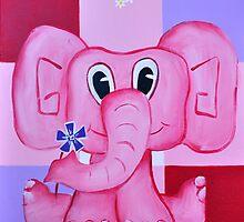 """"""" Daisy Elephant """" Kids Art Series by Taniakay"""