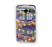 Doctor Who Christmas Tardis  Samsung Galaxy Case/Skin