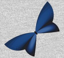 Blue Geometric Butterfly Kids Clothes