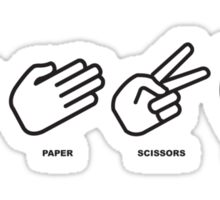 rock, paper, scissors, DYNAMITE! Sticker