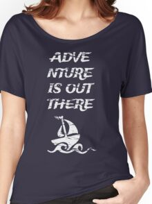 Adventure is Out There: White Women's Relaxed Fit T-Shirt