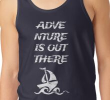 Adventure is Out There: White Tank Top